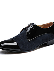 Men's Shoes Office & Career Leather/Faux Leather Oxfords Blue