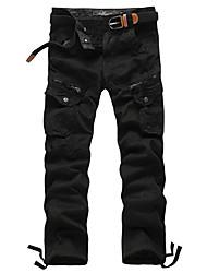 PPZ Casual Fashion Solid Color Cotton Pant