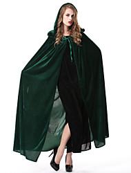 Umhang Zauberer/Hexe Fest/Feiertage Halloween Kostüme Grün / Blau einfarbig Umhang Halloween / Karneval Frau Polyester