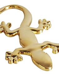 de metal gecko pequeno adesivo
