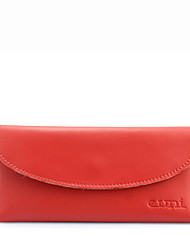 KATE&CO Genuine Leather Solid Color Wallet