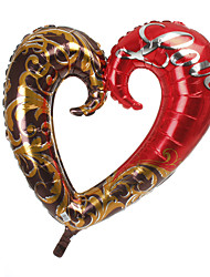 Красный & Шоколад Сердце металлик шар