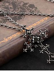 Cross Pattern Black Crystal Gothic Lolita Necklace