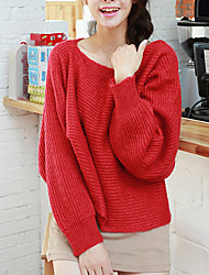 Folli Bateau Collar Bat Sleeve Knit Shirt