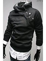 Zhelin Oblique Zipper gola do casaco de lã com capuz espessamento