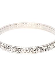Bracelete(Cristal / Liga / Prata Chapeada) -Pesta / Diário