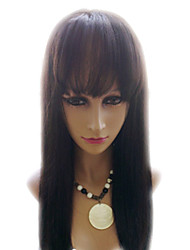 18inch 100% Indian Remy Hair Yaki Lace Front Wigs droite