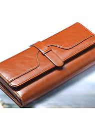 moda carteira de couro de alta qualidade das mulheres