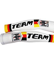 KOOPLUS - German National Team Polyester+Lycra White Cycling Oversleeve