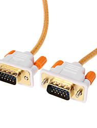 VGA 3 +6 macho a macho Cable de vídeo OD 4.2mm naranja (1,5 M)