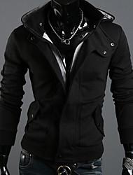 v Mode Strickjacke mit Kapuze (schwarz)