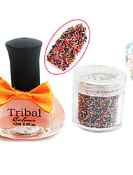 12ML Nail Polish&Colorful Caviar Top Coat Nail Decoration Nail Art Set