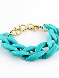 Kayshine Damen Blue Candy-Farben-Legierungs Openwork gesponnenes Armband