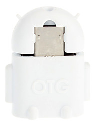 Micro USB 2.0 to USB 2.0 M/F OTG Adapter White