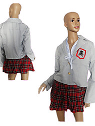 Sweet Girl Fuschia Checks Pattern Student Uniform