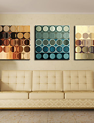 Stretched Canvas Print Art Abstract Circles Set of 3