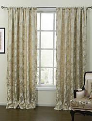 (Two Panels) Fancy Country Arabasque Energy Saving Curtain