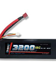 DLG 14.8V 3200mAh 4S 15C Lipo Battery