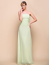 trägerlosen bodenlange Chiffon Brautjungfer / Hochzeit Kleid 929968