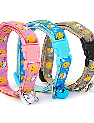 Plastic Buckle Little Chicken Pattern Small Collar with Little Bell for Dogs (Random Color)
