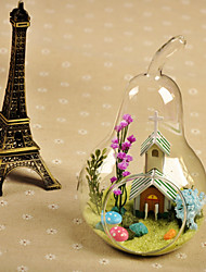 Table Centerpieces Pear Shaped Vase With Cabin Design  Table Deocrations