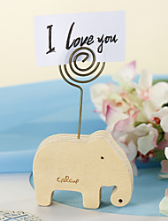 Place Cards and Holders Elephant Wood Placecard Holder