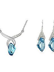 Studs cristal de diamante de Sammy moldada e Colar Jogo