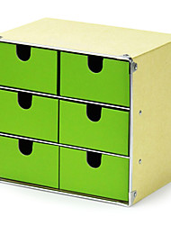 Fashion 6 Drawers Paper Storage Cabinet - 2 Colors Avaliable
