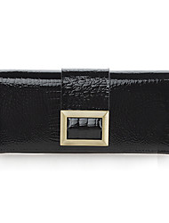 Mega Classic Patent Leather Long Wallet(Black)
