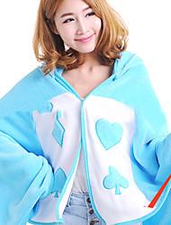 Прекрасный Синий Кролик ватки коралла Kigurumi Плащ