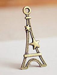 Torre em forma de Bronze Pingente para chaveiro - conjunto de 20