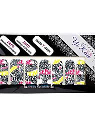 14PCS plein pointe Lettre Nail Art Stickers Stickers environnement enceinte