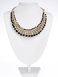Rich Long Women's Bohemia Black Pearl Vintage Necklace