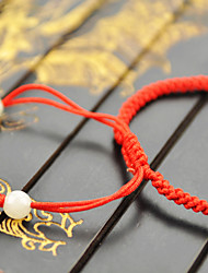Yueren Knitted Jade Bracelet With 2 Beads