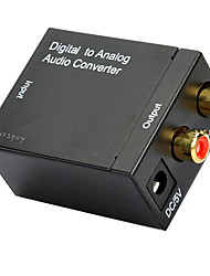 Ourspop M704 Digital to Analog Audio Converter DAC Converter - Black (US Plug)
