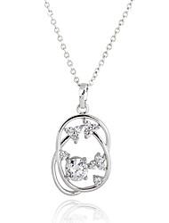 XINXIN Women's 18K Gold Zircon Necklace D0391