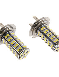 H7 6W 68x3020SMD 460lm 5500-6500K Cool White Light LED-Birnen für Auto (12V)