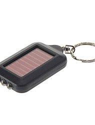 Single-Mode 3xLED Solar Energy Flashlight Key Chain (Black)