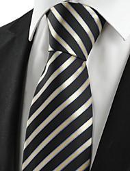De cravate des hommes classiques rayures noires pour le cadeau de vacances de noce