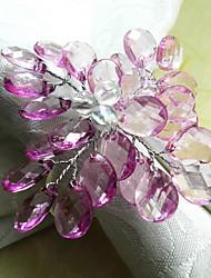 Mariage pourpre Rond de Serviette, Crystal Dia 4.5cm