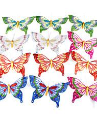Wedding Décor 3D Artificial Organza Butterfly - Set of 12 Pieces