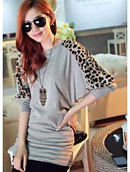 YGR Frauen Leopard Print Rundhals-Shirt Loose Fit