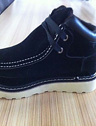 Divid hombres de Inglaterra de la manera del estilo del tobillo de los zapatos (Negro)