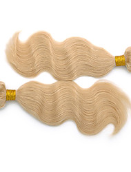 24inch 3Pcs Indian Remy de vague de corps de cheveux Bleach Blonde trame de cheveux