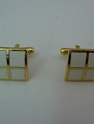 groomsman presente presente personalizado quadrado abotoaduras de ouro de metal