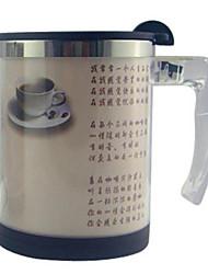 Automatic Stirring Light Color Coffee Mug,Metallic 14oz