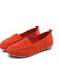 Yangguangjiemei Casual fosco Suede Shoes Flat (laranja)
