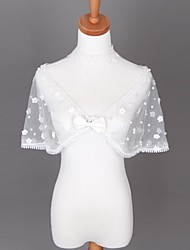 Wedding  Wraps Shrugs Lace Ivory Wedding / Party/Evening Flower(s)