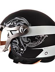 b100-1 модно старинных Harley стиль абс материал мотогонок половина шлем (опционные цветы)