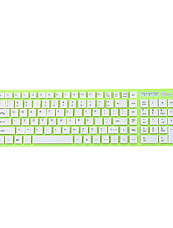 JEWAY JK-8226 USB Wired Chocolate Fashion Super-sottile Multimedia Keyboard Verde